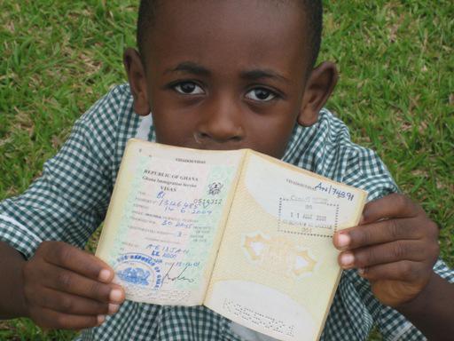 Niño pasaporte