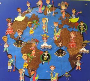 Nuestro mural de clase... por los derechos del niño